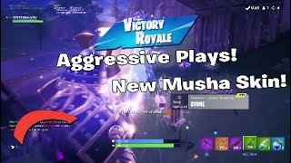 New Fortnite Musha Skin (Battle Royal) Season 5 Solo Highlights using new skin!