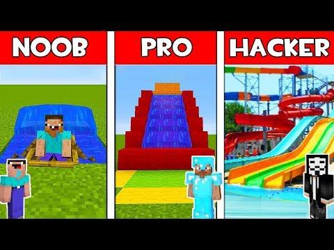 Minecraft - NOOB vs PRO vs HACKER : WATER SLIDE in Minecraft ! AVM SHORTS Animation thumbnail