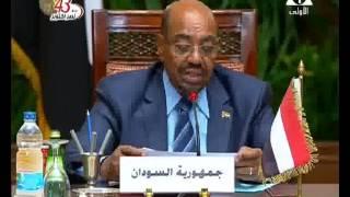 فيديو..عمر البشير من القاهرة : أمن السعودية خط أحمر