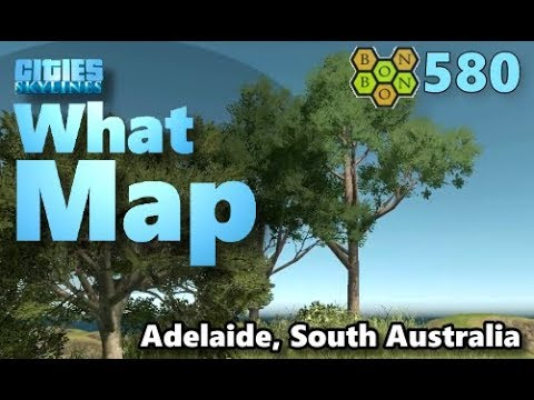 Cities Skylines - What Map - Map Review 580 - Adelaide, South Australia