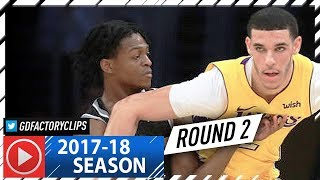 Lonzo Ball vs De'Aaron Fox ROOKIES Duel Highlights (2018.01.09) Lakers vs Kings - ROUND 2!