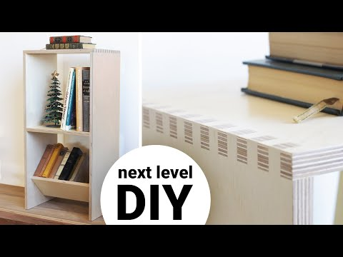 Taking DIY to the Next Level | Plywood Bookcase w/ Finger Joints