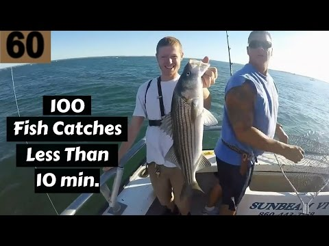 100 Fish Catches in Under 10 Minutes! ~ Fishing Compilation 2016 ~ 100th Video Special