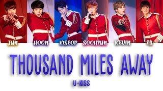 Thousand Miles Away (Christmas Ver.) - U-KISS (KANJI, ROM, ENG/Color Coded)