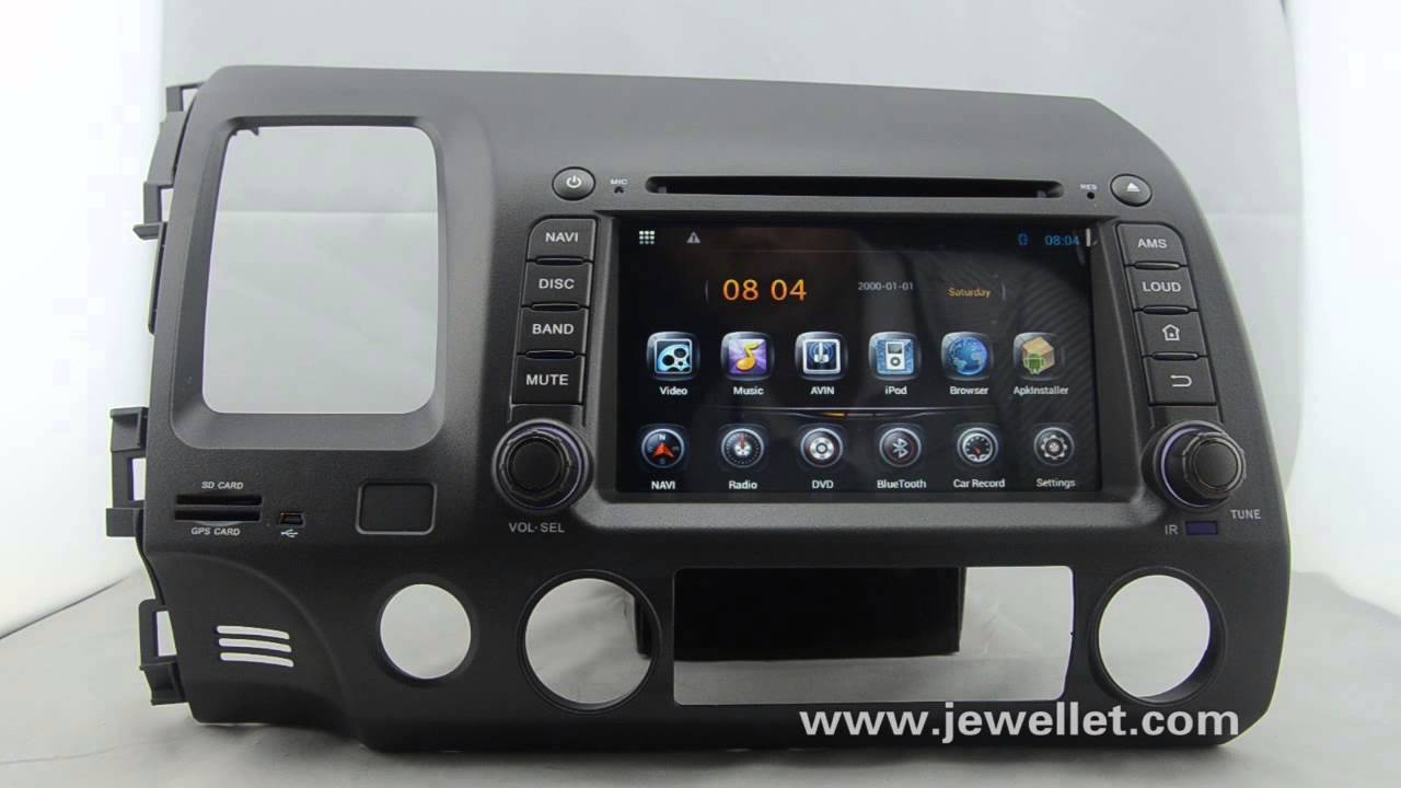 Android Honda Civic Dvd Gps Navigation With Bluetooth,3g/wifi,dvr