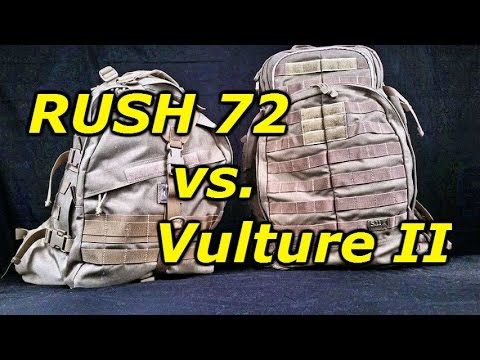 5.11 RUSH 72 vs. Maxpedition Vulture II  3 Day Backpack Showdown ... 7515ac9f12e5b
