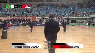 17th World Kendo Championships Men's TEAM MATCH 6ch Brazil vs Serbia