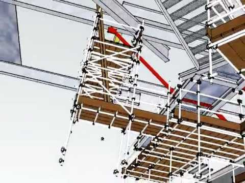 Scaffold Design 3d Slung Scaffold From Structure By