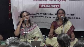 Deepika Varadarajan  &   Savita Sreeram  l World Music Day l International Yoga thumbnail