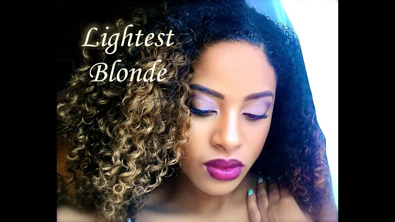 How to dye kinky curly virgin hair blonde 1 month update youtube pmusecretfo Image collections