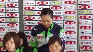 決勝戦出場チーム会見 北海道銀行