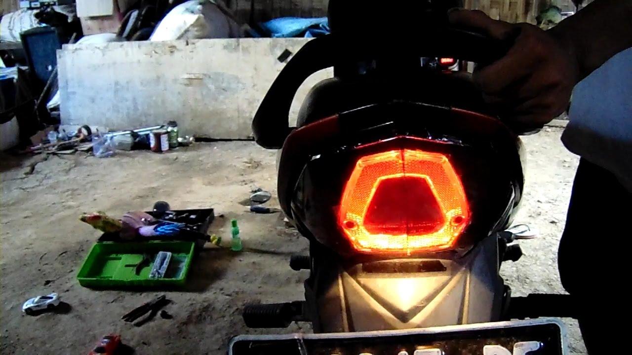 Cara Membuat Lampu Rem Berkedip Cepat Youtube Sepeda Warna Warni Laser Merah
