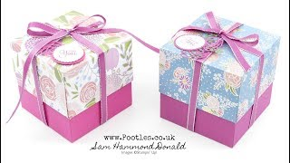 SpringWatch 2018 4 Cube Box Tutorial with Reinforced Lid using Sweet Soiree