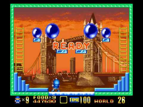 SNES - Super Buster Bros in Tour Mode (Expert) 100% in 18:52 - No die - 999999 Points by VELHO