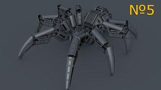 Cinema 4D: Робот паук: Урок №5 [HD]