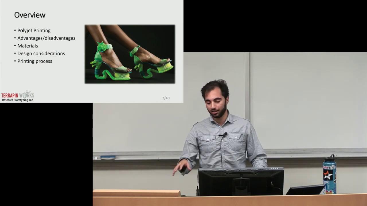 Saul Schaffer | Guest Lecture | Polyjet 3D Printing