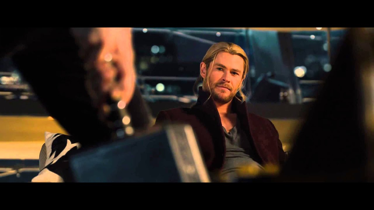 Age Of Ultron Clip The Avengers Try To Lift Mjolnir Youtube