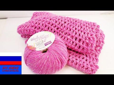 Легкий весенний шарф вязание крючком