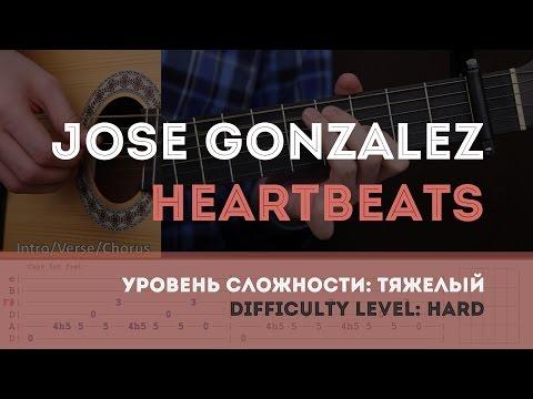 Как играть на гитаре Jose Gonzalez – Heartbeats (Guitar tutorial)