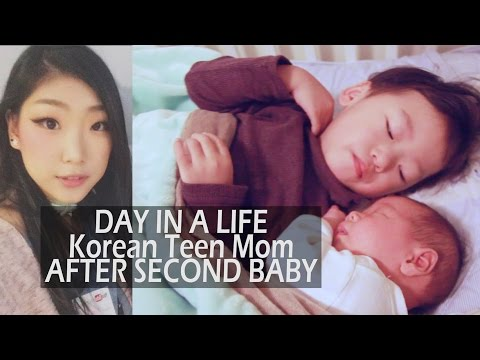 KOREAN POST-TEEN MOM Day in a Life: First Outing After Baby2 - Feb 15 2016