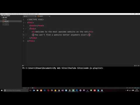 Node JS Tutorial For Beginners #17 - Serving HTML Pages