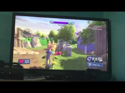 Plants vs Zombies Garden Warfare: Nice trickshot I hit with the sky trooper