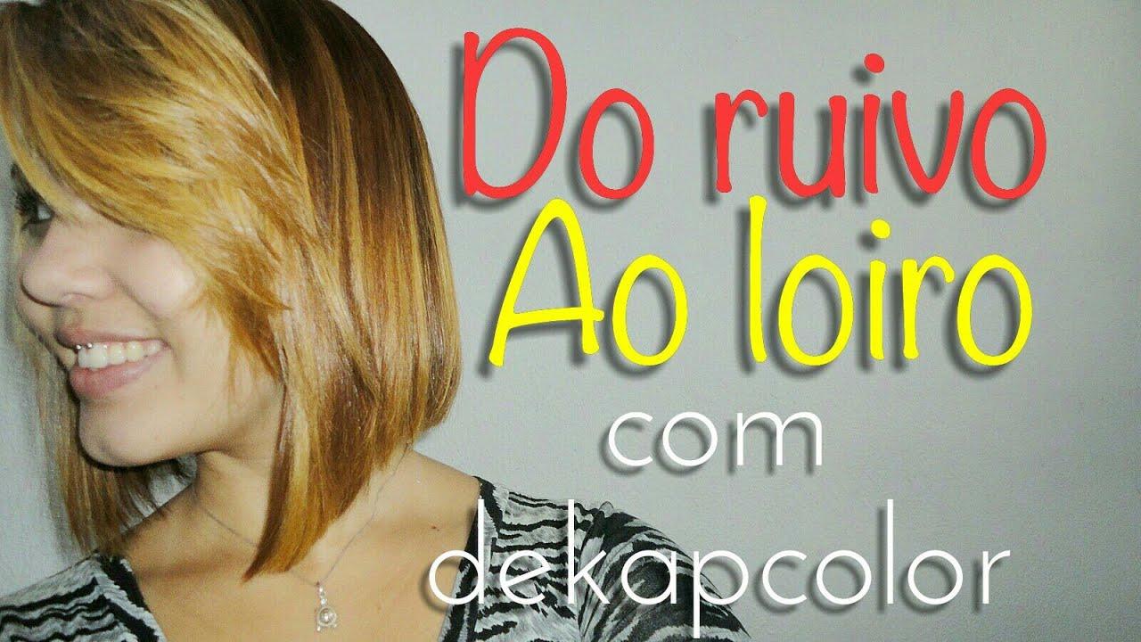 Download Do RUIVO ao LOIRO com Dekapcolor sem agredir o cabelo - K de Karoll