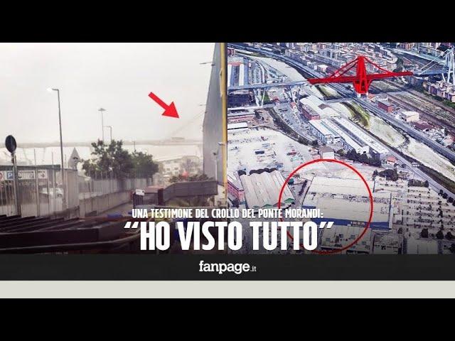 """Crollo ponte Genova, la testimone: """"Ho visto tiranti e stralli accartocciarsi"""""""