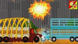 Çocuklar l Ep İçin iyi ve kötü nakliye kamyonu Çizgi Dizi çocuklar için l Hayvan Taşıma Aracı 45