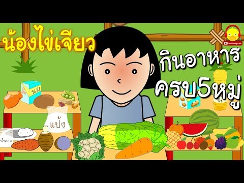 นิทานน้องไข่เจียว ตอนทานอาหารครบ 5 หมู่ / นิทานสอนใจ indysong kids