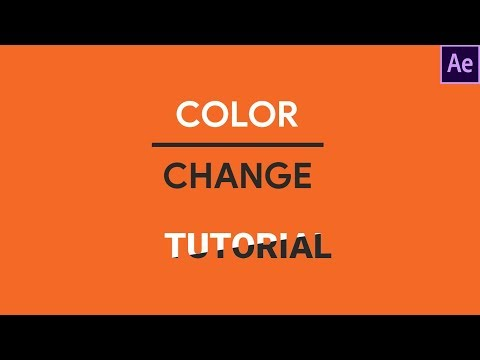 Change text color adobe after effects