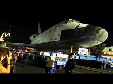 Space shattle Endeavor in Los Angeles