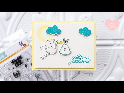 Flying Stork on a Sliding Track ft. Oh Baby Stamp Set from Simon Says Stamp