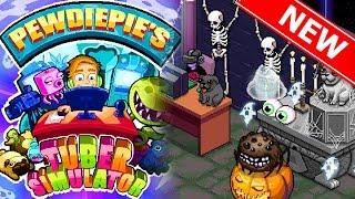 Pewdiepie's Tuber Simualtor Halloween Update!!   CRAZY CREEPY CRAWLY PACK OPENING!! Spending 450 Bux