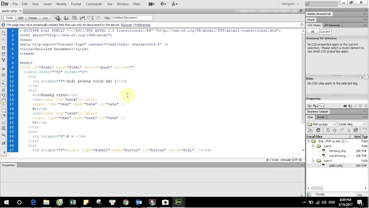 [PHP cơ bản] Cấu trúc IF ELSE và ví dụ phương trình bậc 1