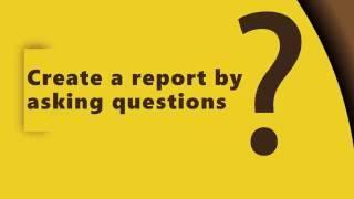 السلطة ثنائية اللغة الطبيعية Q&A: إنشاء التقارير عن طريق طرح الأسئلة