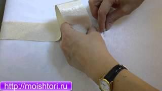 Как заутюжить ровную полоску ткани