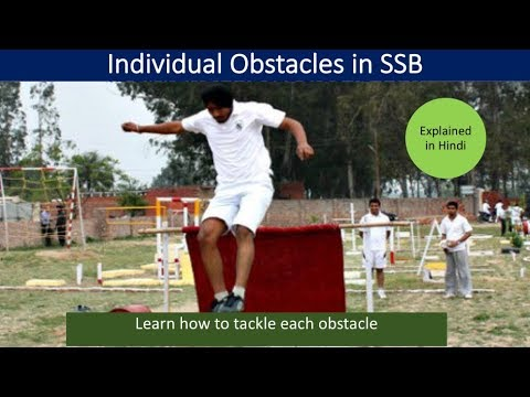 Individual Obstacles (IO) in SSB fully explained in Hindi