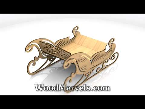 Reindeer and Ornate Sleigh: 3D Assembly Animation (720HD)