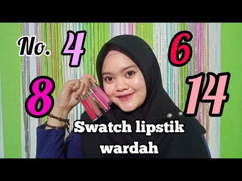 swatch-lipstik-wardah-matte-lip-cream-no.-4,-6,-8,-14.