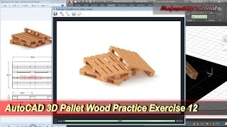 AutoCAD 3D Modeling | Pallet Wood Tutorial | Exercise 12