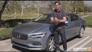 2017 Volvo S90 AWD T6 Inscription Test Drive Video Review - Supercharged & Turbocharged 2.0 Liter