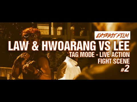 FIGHT SCENE 2 / Law & Hwoarang VS Lee  - Tag mode - Live Action / Kefi Abrikh