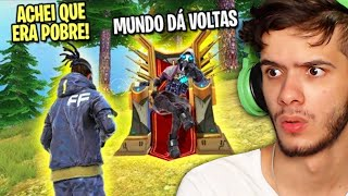 FINGI SER POBRE E SURPREENDI O DESUMILDE NO FREE FIRE