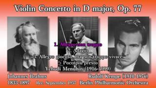 Brahms: Violin Concerto, Menuhin & Kempe (1957) ブラームス ヴァイオリン協奏曲 メニューイン