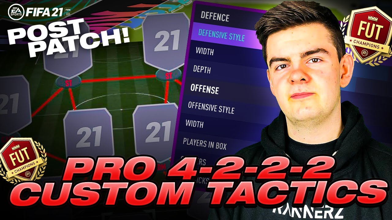 BEST PRO 4222 CUSTOM TACTICS POST PATCH - FIFA 21 ULTIMATE TEAM - OVERPOWERED META - 2 GAMEPLANS