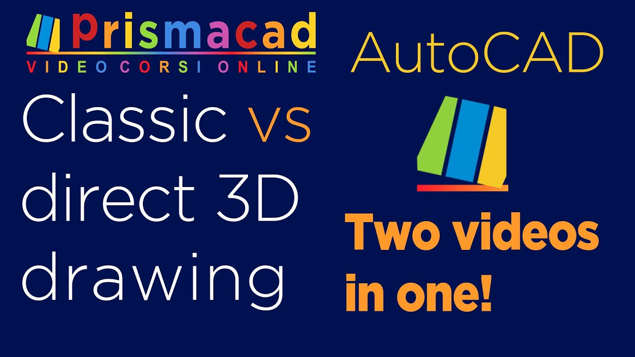 AutoCAD VS AutoCAD - Two videos in one! - Classic way vs 3D commands only -The big macth