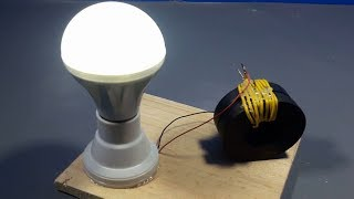make 100 free energy light using magnets coils _ science projects