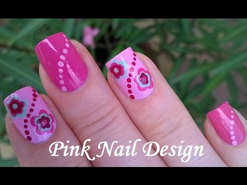 Diy pink summer nails easy dotting tool flower nail art youtube diy pink summer nails easy dotting tool flower nail art mightylinksfo