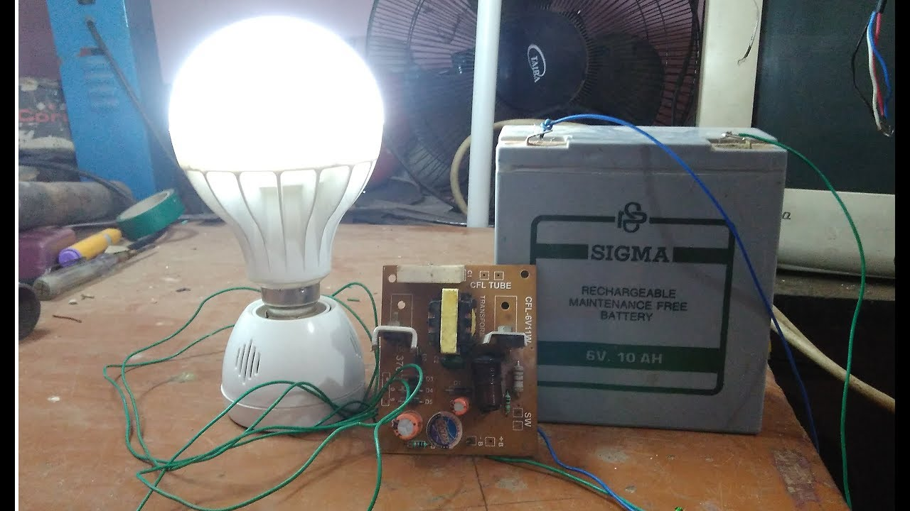 hight resolution of simple ac 230v emergency lamp make using 6v battery